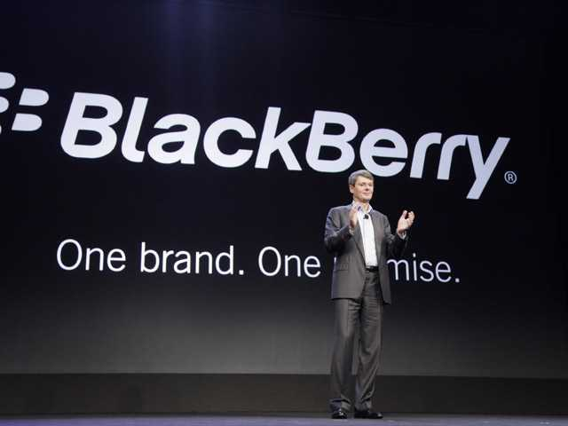 Thorsten Heins, CEO of Research in Motion, announces that the company will now be known as BlackBerry.