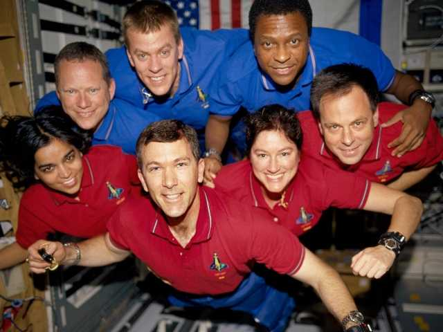 June 2003 NASA photo of astronauts on the Columbia space mission. All were killed on Feb. 1, 2003, in the final minutes of their 16-day mission.