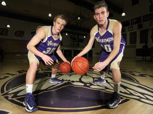 Valencia looked like a team full of role players when the season began. But the Vikings, led by Garrett Mike, left, and Riley Honaker have put themselves in a position to compete for a league title with three games remaining in Foothill League play.