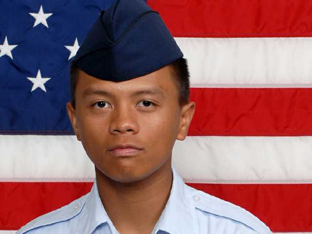 Air Force Airman Angelo Mykae P. Cabuang graduated from basic military training at Lackland Air Force Base, San Antonio, Texas. (Courtesy)