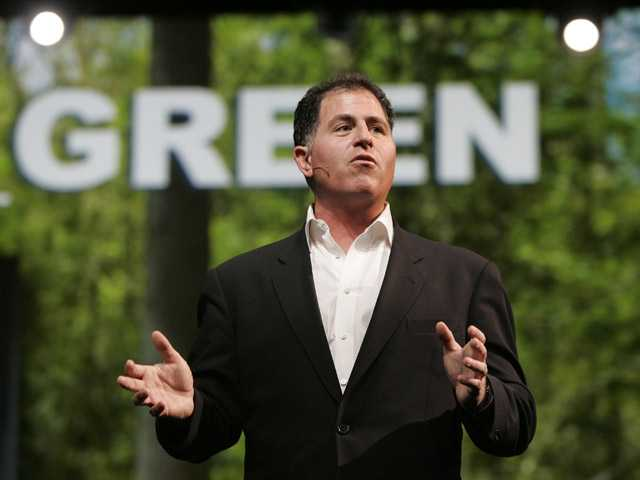 Dell CEO Michael Dell speaks at Oracle Open World Conference in San Francisco.