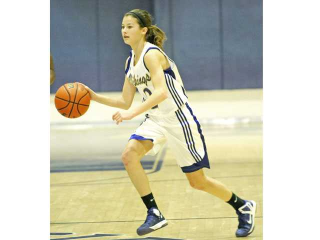 Valencia freshman point guard Sabrina Thompson and her team will play for a Foothill League title Friday.