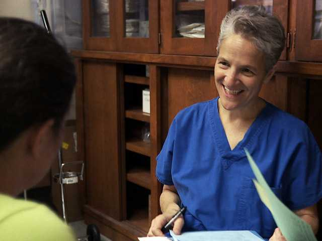 "This still image taken from the documentary, ""After Tiller,"" shows Dr. Shelley Sella."