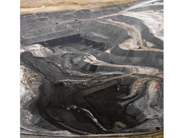 This Aug. 22, 2006 file photo shows a coal mine seen from the air in northeast Wyoming near Gillette, Wyo.