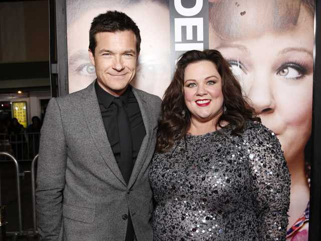 "Jason Bateman and Melissa McCarthy attend the world premiere of ""Identity Thief"" at the Mann Village Westwood."