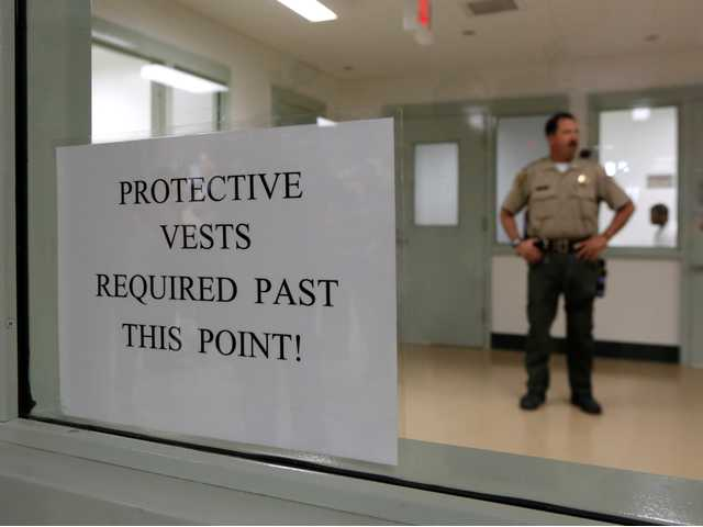 Protective vests are required in one of the treatment areas at the newly opened mental health treatment unit at the Calif. Medical Facility in Vacaville, Calif.