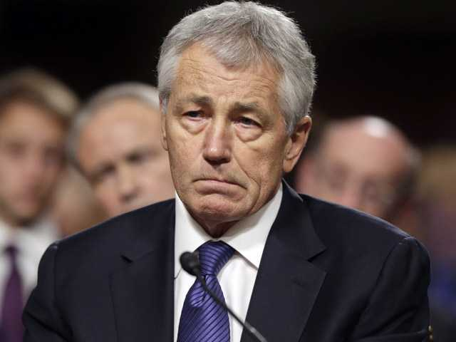 Republican Chuck Hagel, President Obama's choice for Defense Secretary, testifies before the Senate Armed Services Committee.