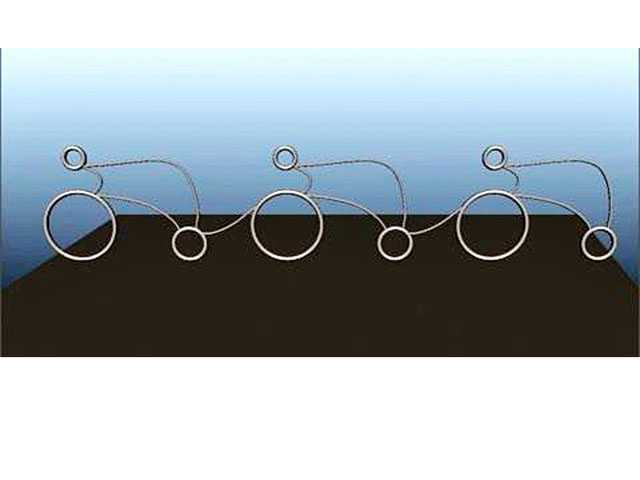 An artists rendition of the bike racks that will be installed at City Hall this year. (Courtesy photo)