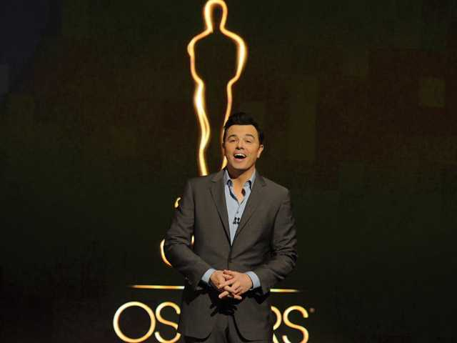Oscar host Seth MacFarlane presents the Academy nominations for the 85th Academy Awards in Beverly Hills. (AP)