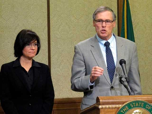 Washington state Gov. Jay Inslee said liquid is leaking from six underground radioactive waste tanks.