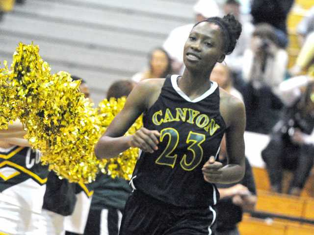 Canyon's Alia McCoy was named 2013 All-Foothill League Girls Basketball Player of the Year.
