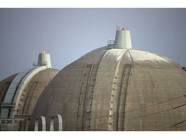 This Sept. 13, 2012 file photo shows the San Onofre nuclear power plant along Pacific Ocean coastline.