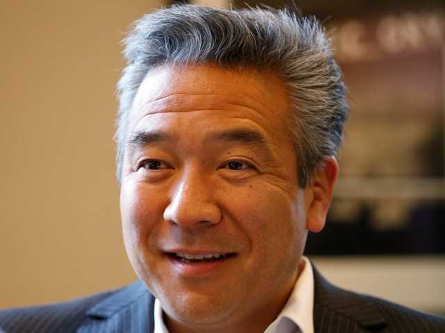 Kevin Tsujihara, 48, who grew up making deliveries as the son of egg distributors, will become the CEO of Warner Bros. Entertainment.