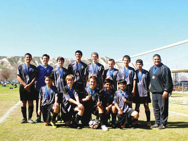 The Saugus U14 team, Saugus Storm, including Brennen Armendariz, Zackary Beliveau, AJ Contreras, Jacob Gandara, Gattlin Griffith, Cameron Guyer, Franklin Juarez, Ivan Lopez, Andrew Nasta, Abraham Ornelas, Josh Padilla, Zachary Phipps and Kemper Petit will compete at the AYSO state tournament. Head coach is Tom Gandara.