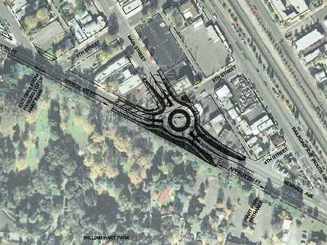 City says it wants to share Newhall roundabout project with residents