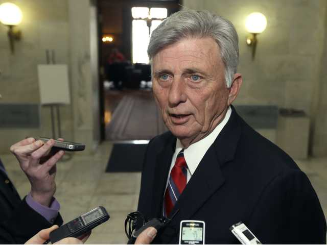 Gov. Mike Beebe speaks to reporters on Mondayat the state Capitol in Little Rock, Ark., after vetoing legislation that would have banned abortions 12 weeks into a pregnancy. (AP)