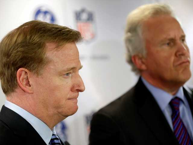 NFL's Goodell hopes for lighter helmets, sensors