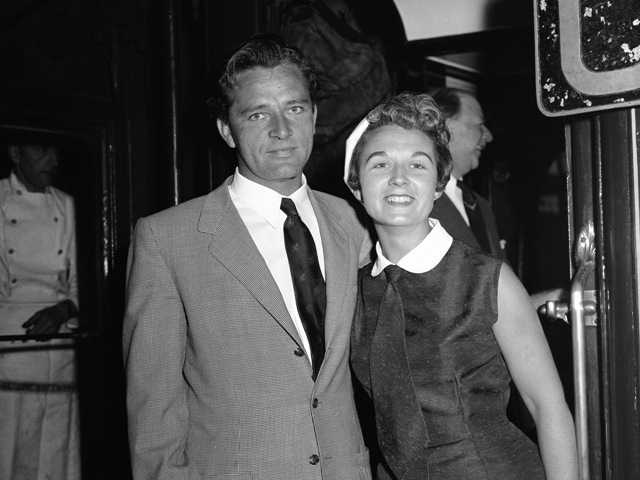 Sybil Williams Burton and her husband, actor Richard Burton, pose for a photo in 1955. Richard Burton left Sybil for Elizabeth Taylor in 1963.