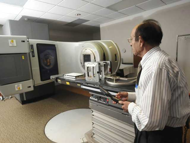 This Sept. 19, 2102 file photo shows a linear accelerator used to treat cancer at a hospital in Johnstown, Pa. Women treated with radiation for breast cancer are more likely to develop heart problems later, troubling new research suggests.