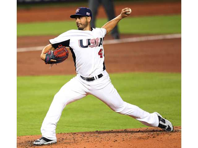 United States pitcher Gio Gonzalez delivers against Puerto Rico during their second-round World Baseball Classic game on Tuesday in Miami.