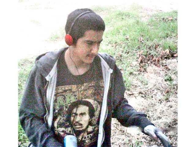 Deputies from the Santa Clarita Valley Sheriff's Station released this photo of the suspected vandal Saturday.