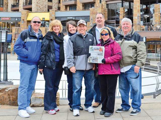 Left to right: Jim and Jill Mellady; Lynn and Jay Plashko; Ethan Stein; Mitzi and Randy Moberg. The group traveled to Vail, Colo.