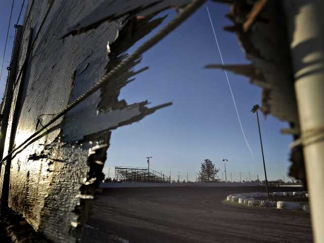 The racetrack where a sprint car accident killed two people on Saturday at Marysville Raceway Park in Marysville, Calif.