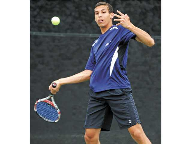 Saugus junior Tristin Thierry could be one of the Foothill League's best singles players.