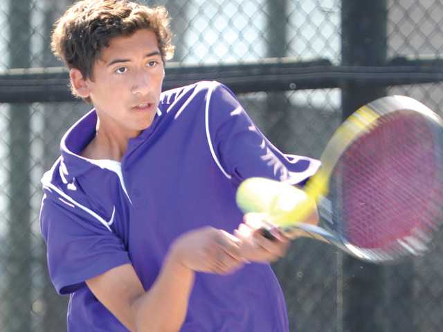 Valencia sophomore Chad LeDuff is fighting for the team's top singles spot.