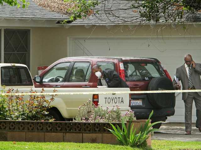 Nearly 50 detectives worked round the clock Friday hunting for clues to kidnappers who snatched a 10-year-old girl from her bedroom in Northridge.