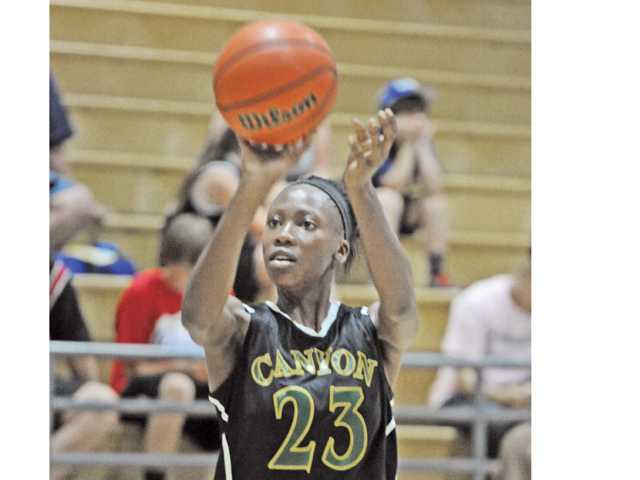 Canyon's Alia McCoy averaged 16.5 points per game this season for the co-Foothill champion Cowboys.