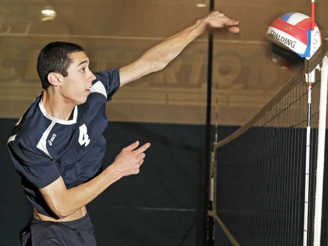 Saugus volleyball's Tony Balzer has quietly become one of the Centurions' biggest offensive threats this season. The attention he's received since the start of Foothill League play was unexpected to the senior opposite. Photo by Jonathan Pobre