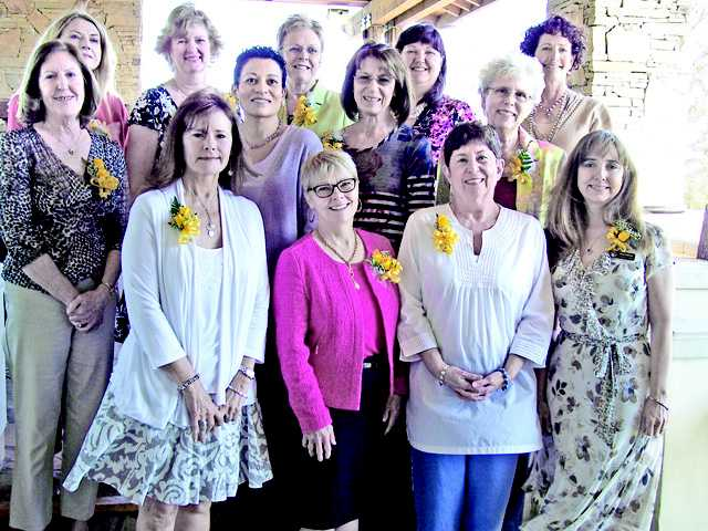 Nominees for the Carmen Sarro Award are (front row, left to right) Cathie Rydall, Molly McCarthy, Cheryl Phillips and Pamela Ripling, (middle row, left to right) Sue McCabe, Irene Thomas-Johnson, Adele Macpherson and Sue Smyth and (back row, left to right) Michelle Jenkins, Cindy Bernsdorf, Sue Endress, Cyndi Diaz and Karen Schnurr.