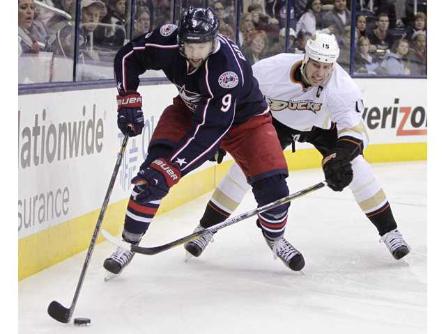 Letestu's OT goal lifts Columbus past Anaheim