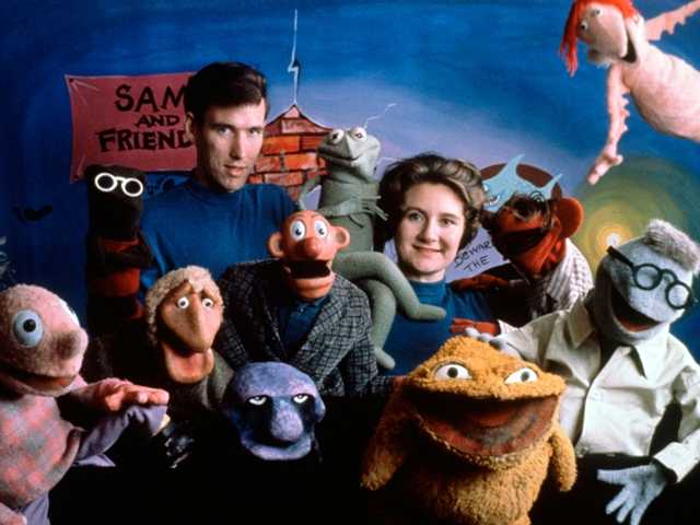 This 1960 shows Jane Henson, right, with Jim Henson and the cast of Sam and Friends from the Jim Henson Company. Jane died Tuesday after a long battle with cancer.