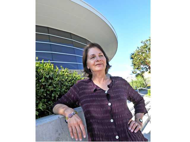 Evy Warshawski poses outside the Santa Clarita Performing Arts Center at College of the Canyon this week. Warshawski started last month as the executive director of the PAC. Signal photo by Jonathan Pobre