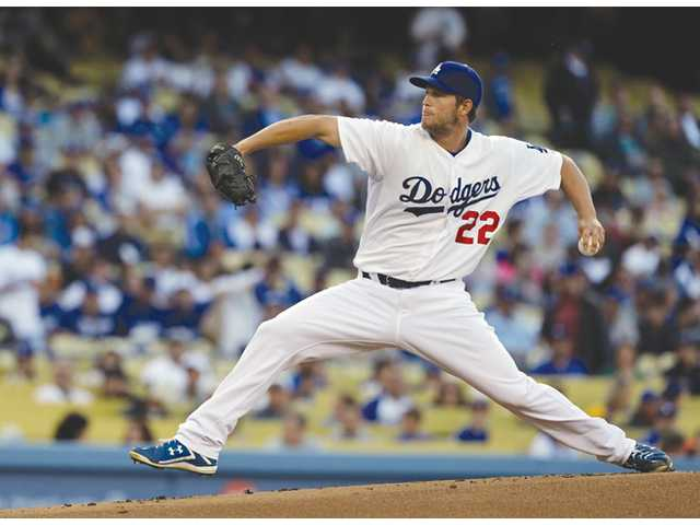 Los Angeles Dodgers starter Clayton Kershaw pitches to the Pittsburgh Pirates in Los Angeles on Saturday.
