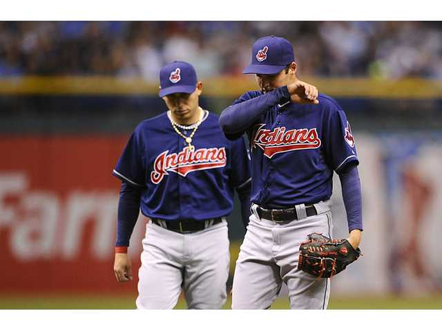 MLB: Bauer roughed up in his 1st Cleveland start