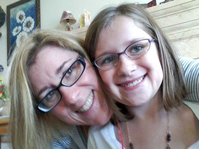 Laurel Slothower, left, with her daughter Abby, who was seriously injured in an Acton car crash last November. She is on a slow but steady road to recovery.