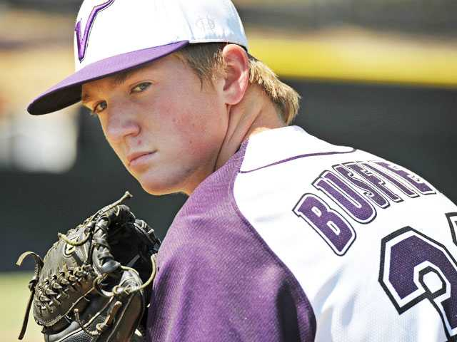 Valencia senior pitcher J.D. Busfield is one of the Foothill League's top arms, and he does it with location and strategy rather than power.