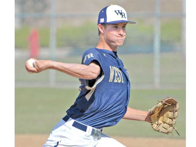 West Ranch pitcher Cody Bennett deals to Canyon on Friday at West Ranch High.