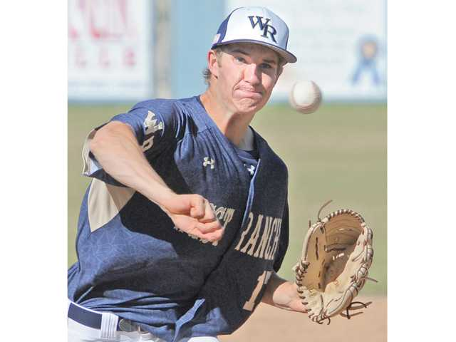West Ranch pitcher Cody Bennett pitches to Valencia on Friday at West Ranch High.