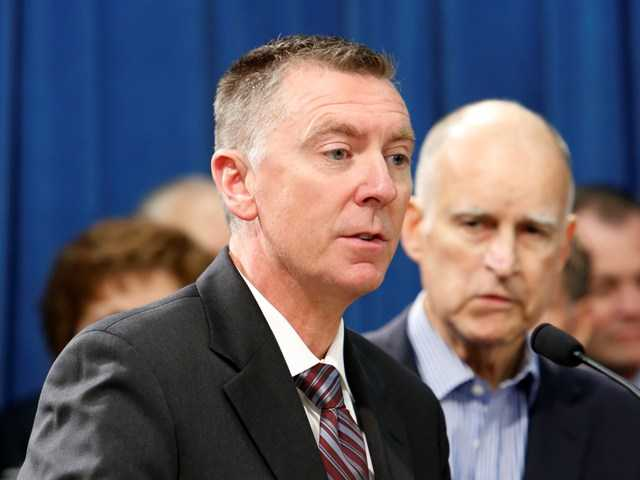 John Deasy, superintendent of the Los Angeles Unified School District, left, discusses his support for Gov. Jerry Brown's education spending reforms.