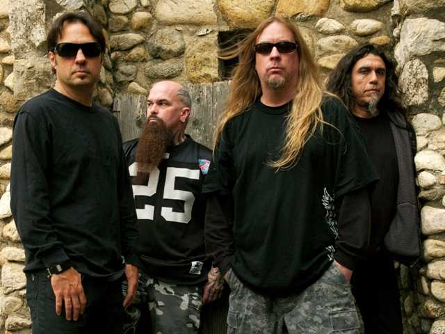 Slayer members Dave Lombardo (left), Kerry King, Jeff Hanneman and Tom Araya into 2009. Founder Hanneman died at age 49.