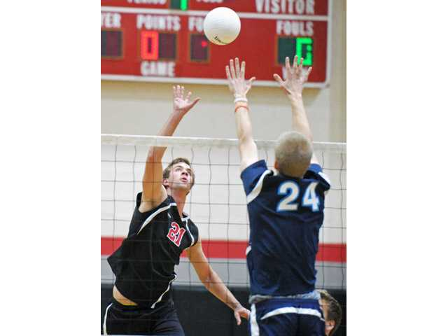 Tanner Tengberg, left, and the Hart Indians will take on  Sunset League runner-up Newport Harbor on Tuesday.