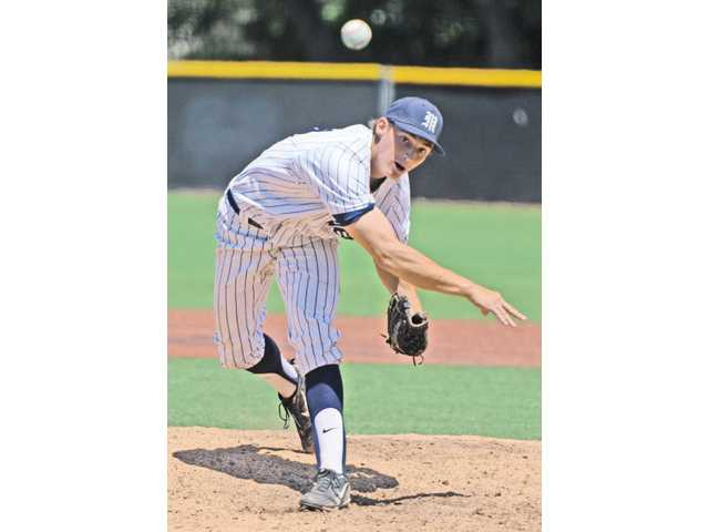 TMC pitcher James Scott throws against Westmont on April 27.