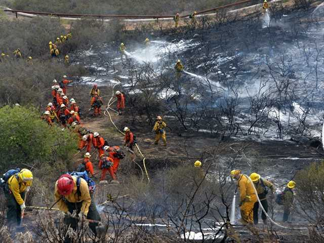 Fire doused near Golden Valley Road