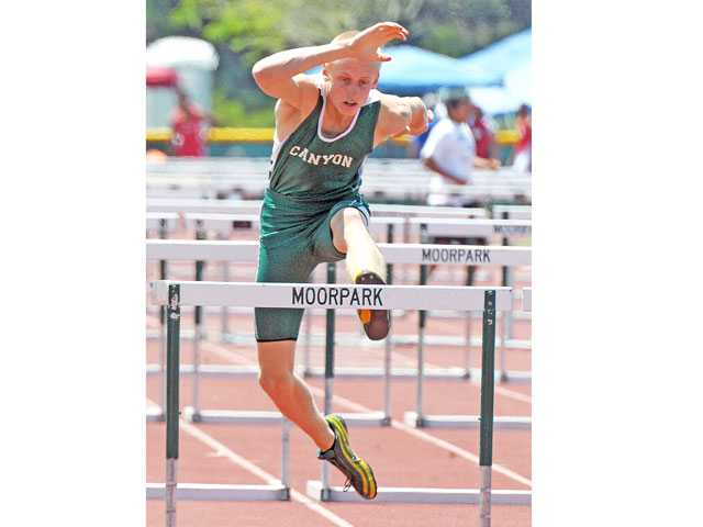 Canyon's Jarrett Davidson competes in the CIF-Southern Section Division II prelims on Saturday at Moorpark High.