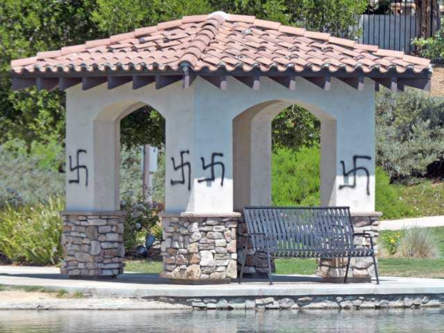 Saugus: HOA structures vandalized with anti-Semitic symbols