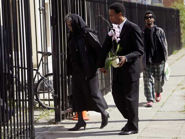Mourners gather to remember Malcolm X's grandson